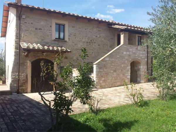 Rustico/Casale in vendita a Gualdo Tadino, Con giardino, 295 mq.